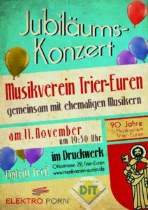 Jubliäumskonzert mit ehemaligen Musikern am 11.11.2017 um 19:30 Uhr im Druckwerk Euren